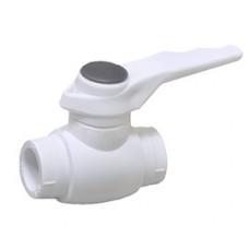 Шаровый кран из ППР для горячей воды 50
